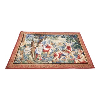 Large Scale Italian School Tapestry With Playful Children For Sale