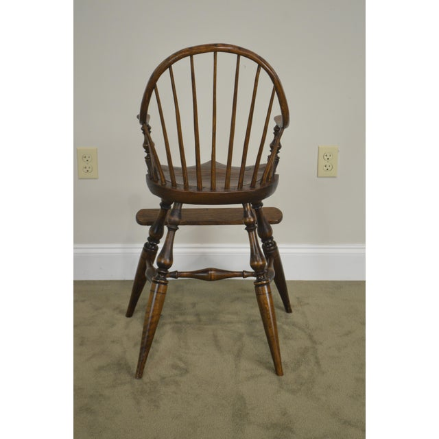 Windsor Style Childs Youth Arm Chair by K. Malone (18th Century Reproduction) For Sale - Image 4 of 13