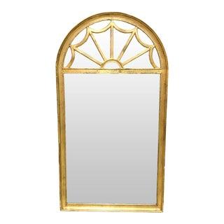 La Barge Signed Italian Regency Gilt Domed Beveled Mirror For Sale