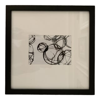 Black and White Circular Framed Art For Sale