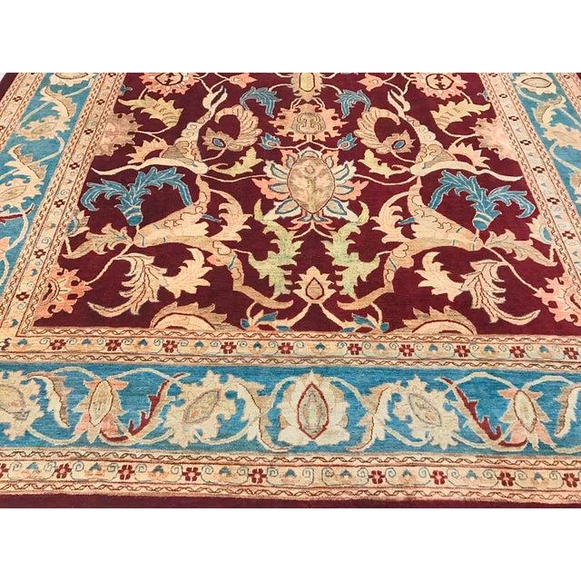 """Kafkaz Peshawar Antoinet Red & Blue Wool Rug - 10'3"""" x 14' For Sale - Image 4 of 7"""