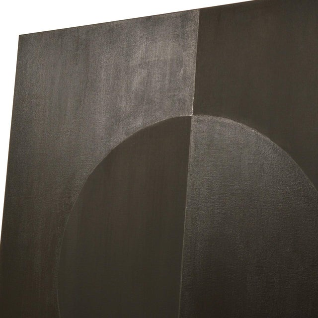 Minimalism Eclipse Double Black Painting by Stephen Hansrote For Sale - Image 3 of 6