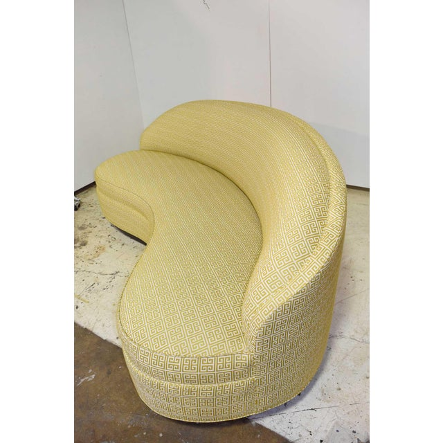 Custom Kidney Shaped Sofa With Kravet Fabric For Sale In Dallas - Image 6 of 12