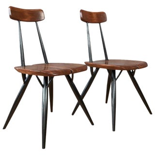 "Pair of ""Pirkka"" Chairs by Ilmari Tapiovaara For Sale"