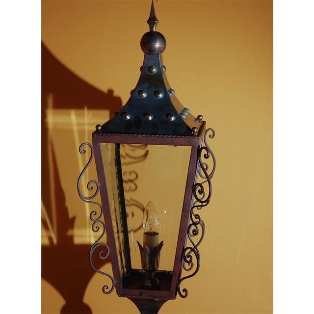 Italian Brass Wall Lantern For Sale In Los Angeles - Image 6 of 9