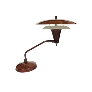 1950s Atomic Age Flying Saucer Lamp Swivel Base For Sale
