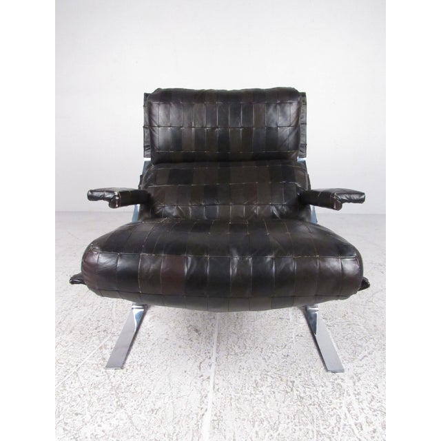 Lounge Chair and Ottoman Attributed to Richard Hersberger For Sale - Image 4 of 13