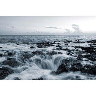 """Saltwater Drain - Kauai, Hawaii"" Contemporary Seascape Photograph by George Diebold For Sale"