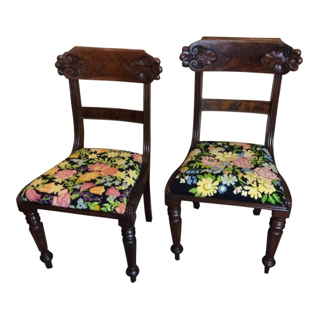 Antique English Regency Chairs - A Pair For Sale - Antique English Regency Chairs - A Pair Chairish