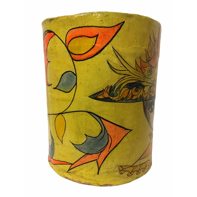 Vintage Mid-Century Paper Mache Can / Vessel For Sale - Image 4 of 9