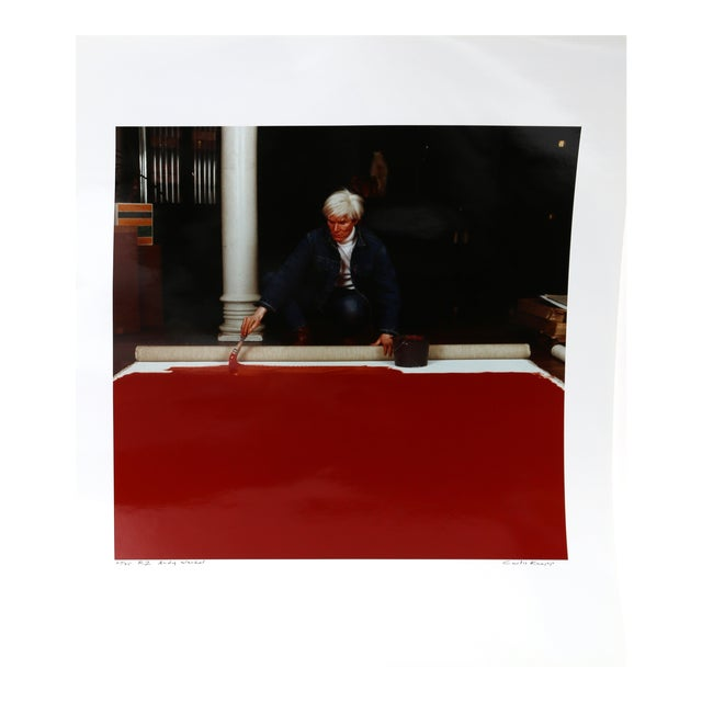 Andy Warhol Red Series Ii, Photo Portrait by Curtis Knapp For Sale