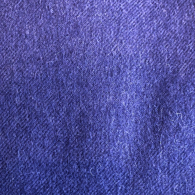 Peruvian Alicia Adams Classic Admiral Blue Alpaca Throw For Sale - Image 4 of 5