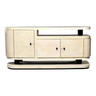 Mid-Century Italian Vellum Covered Sideboard For Sale