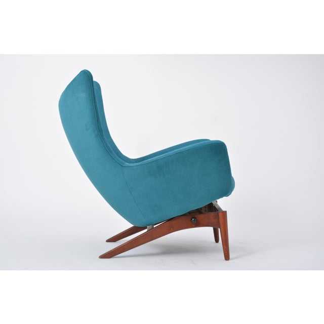 Reupholstered Model 207 Reclining Lounge Chair Designed by h.w. Klein For Sale - Image 10 of 12