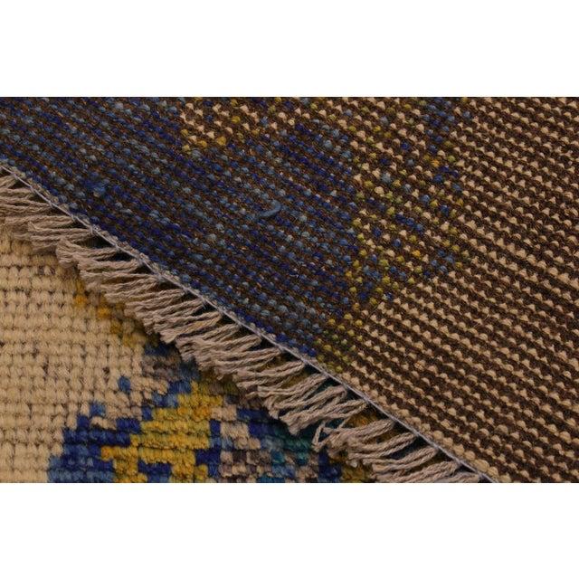 Textile Balouchi Albertha Blue Wool Rug - 4′10″ × 6′6″ For Sale - Image 7 of 8