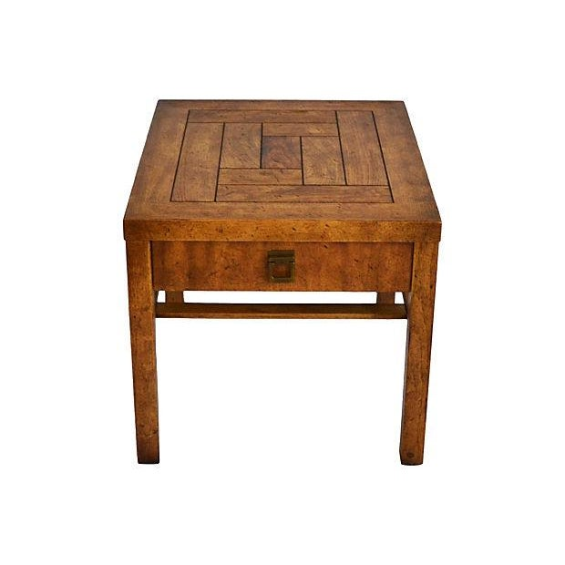 Campaign-Style Side Tables by Drexel - Pair - Image 4 of 7