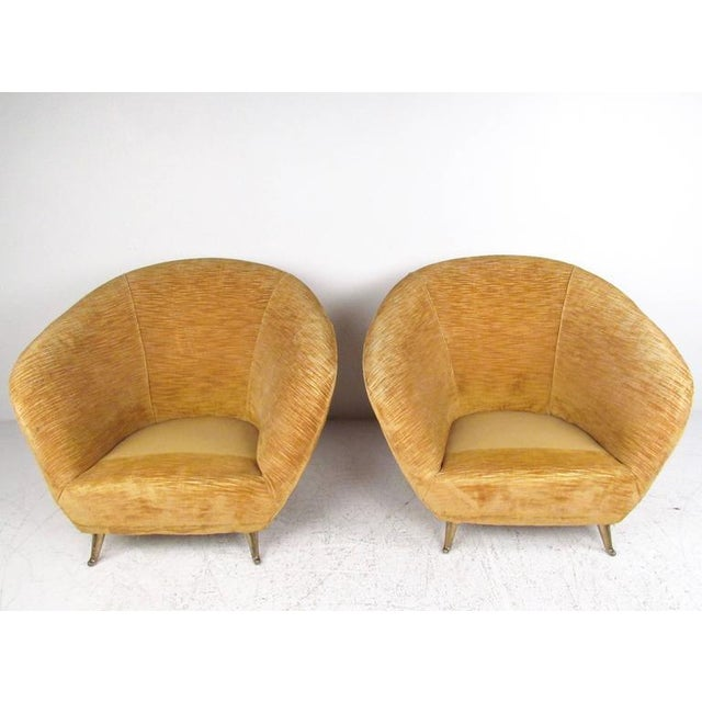 Textile Marco Zanuso Style Lounge Chairs - a Pair For Sale - Image 7 of 10