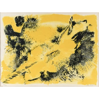 Danish Abstract Lithograph For Sale