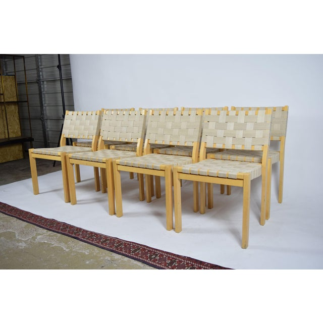 Mid-Century Modern Alvar Aalto 615 Chairs - Set of 8 For Sale - Image 3 of 8