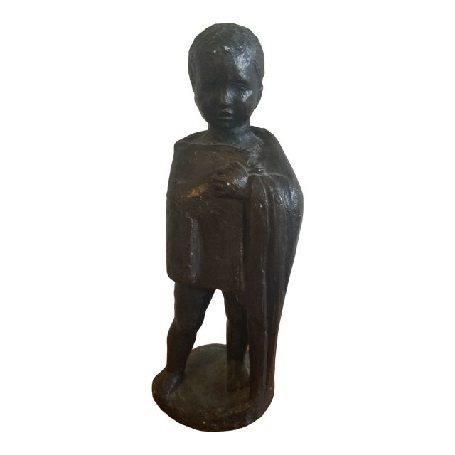1950s Vintage Mpi Boy Sculpture For Sale