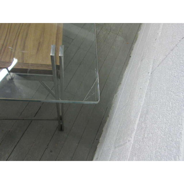 1960s Leon Rosen for Pace Collection Chrome Desk For Sale - Image 5 of 7