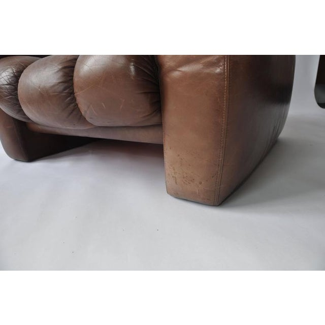 Large Scale 1970s Leather Lounge Chair For Sale In Boston - Image 6 of 7