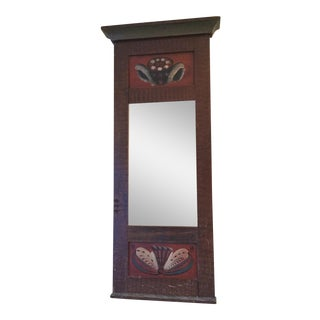 20th Century Swedish Hand Painted Wooden Wall Mirror