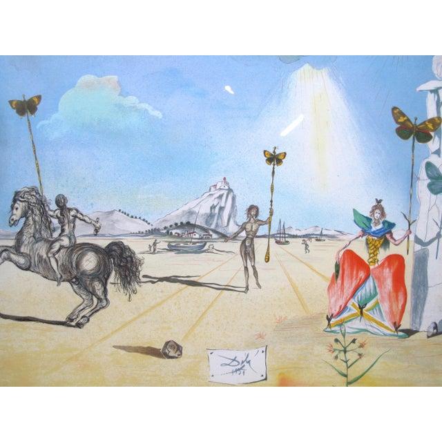 "Mid-Century Modern Vintage Salvador Dali Print ""Homage to Papillon"" For Sale - Image 3 of 9"