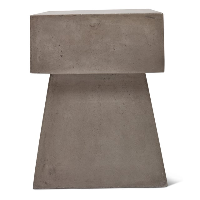 Not Yet Made - Made To Order Cindy Stool, Dark Grey For Sale - Image 5 of 8