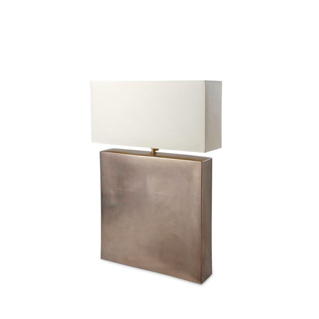 Platinum Glazed Ceramic Table Lamp - Image 2 of 7