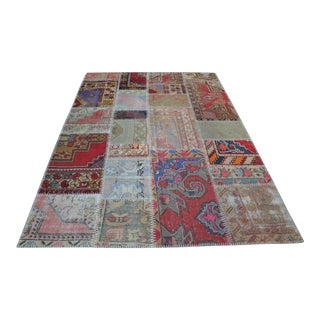 Turkish Handmade Patchwork Rug - 5′6″ × 7′11″