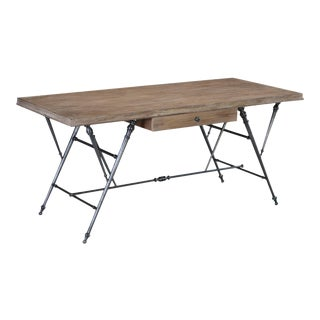 Sarreid Journal Writing Table, Heather Grey Fnsh For Sale