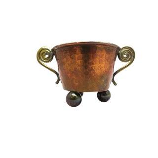 1950s Swedish Handmade Copper & Brass Bowl