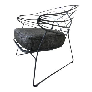 Salterini Style Mid-Century Wrought Iron Lounge Chair For Sale