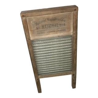 Vintage National Co. #864 Wood & Glass Washboard