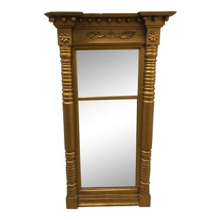 Early 19th Century Antique Trumeau Mirror For Sale