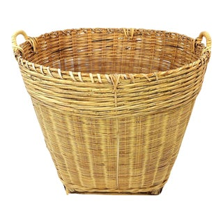 Vintage Large Chinese Bamboo Basket