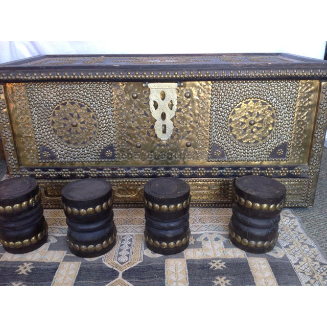 Brown 1980s Moroccan Chest / Coffee Table For Sale - Image 8 of 13