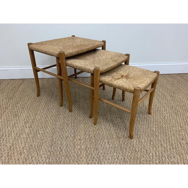 Gio Ponti Style Nesting Stools- Set of 3 For Sale - Image 9 of 9