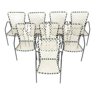 Set of Eight Patio Dining Chairs by Ames Aire For Sale