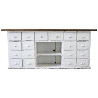 20th Century Country Factory Cabinet With Numbered Drawers For Sale