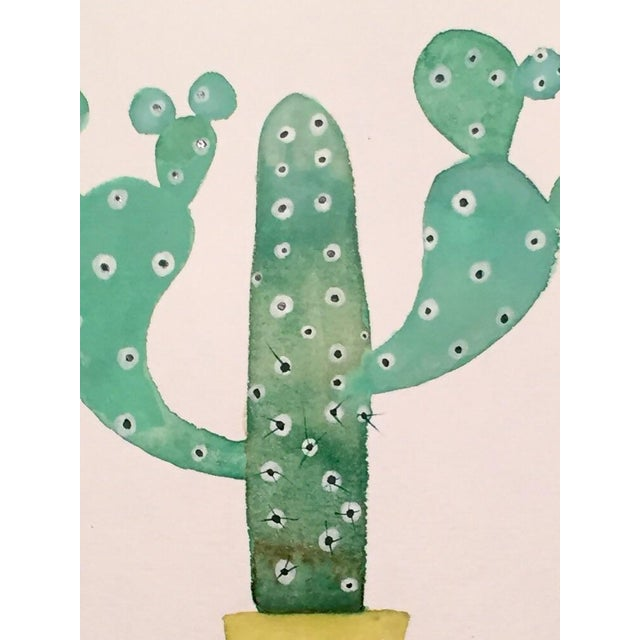 70's Cactus Watercolor - Image 2 of 2