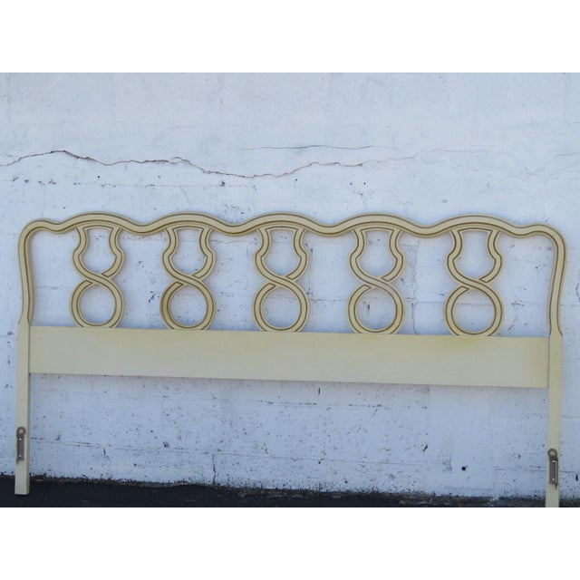 French French King Size Painted Headboard For Sale - Image 3 of 11
