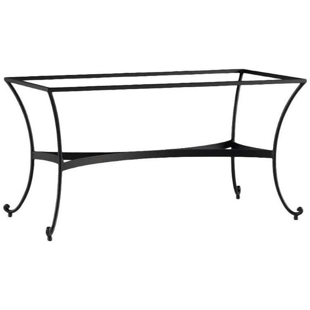 Metal Patio or Garden Dining Room Table in Wrought Iron With Glass Top For Sale - Image 7 of 7