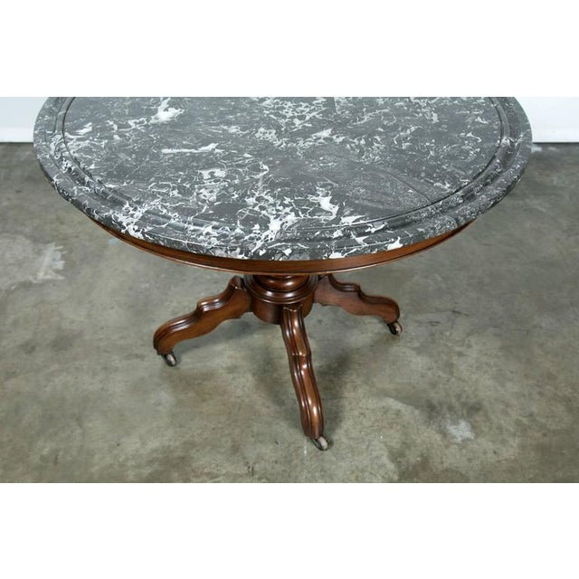 Louis Philippe French Louis Philippe Period Marble Top Gueridon Table For Sale - Image 4 of 9