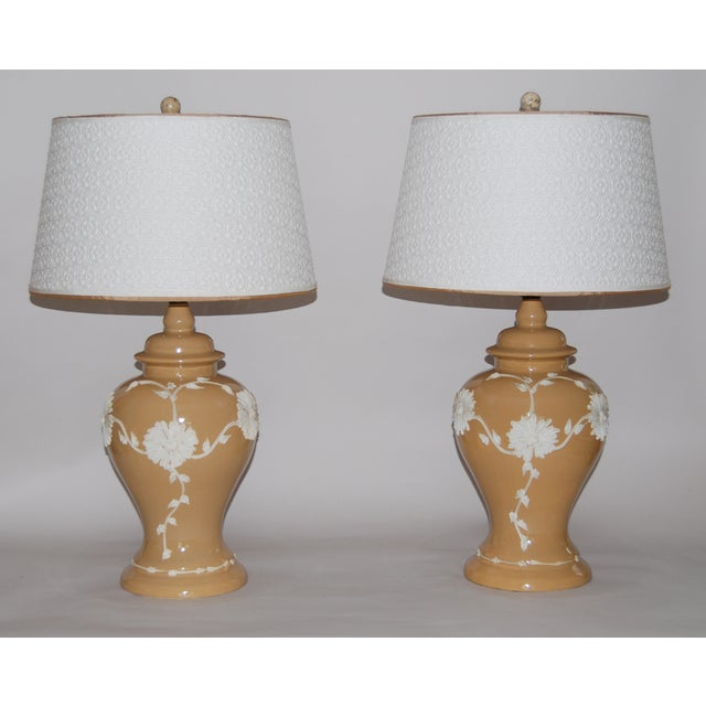 Dorothy Draper Style Lamps - Pair - Image 2 of 6