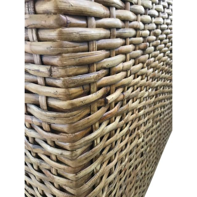 2010s Country Ralph Lauren Woven Rattan King Bedframe For Sale - Image 5 of 8