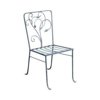 Salterini Vintage Art Nouveau Wrought Iron Garden Chair For Sale