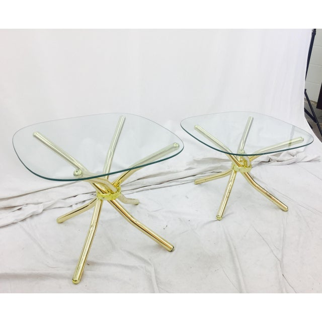 Gold Knot Side Tables - A Pair - Image 3 of 8