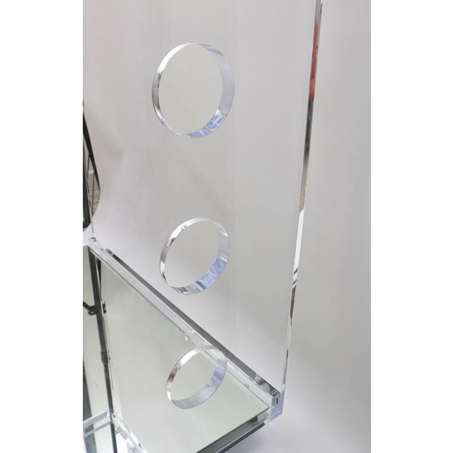 2010s Customizable Rectangular Shaped Bespoke Bar Cart in Lucite and Mirror by Alexander Millen For Sale - Image 5 of 10
